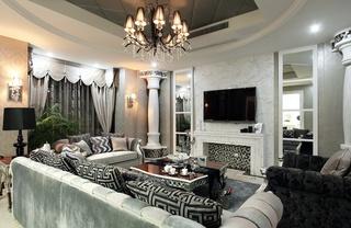 华丽时尚复古欧式大户型公寓装饰装潢