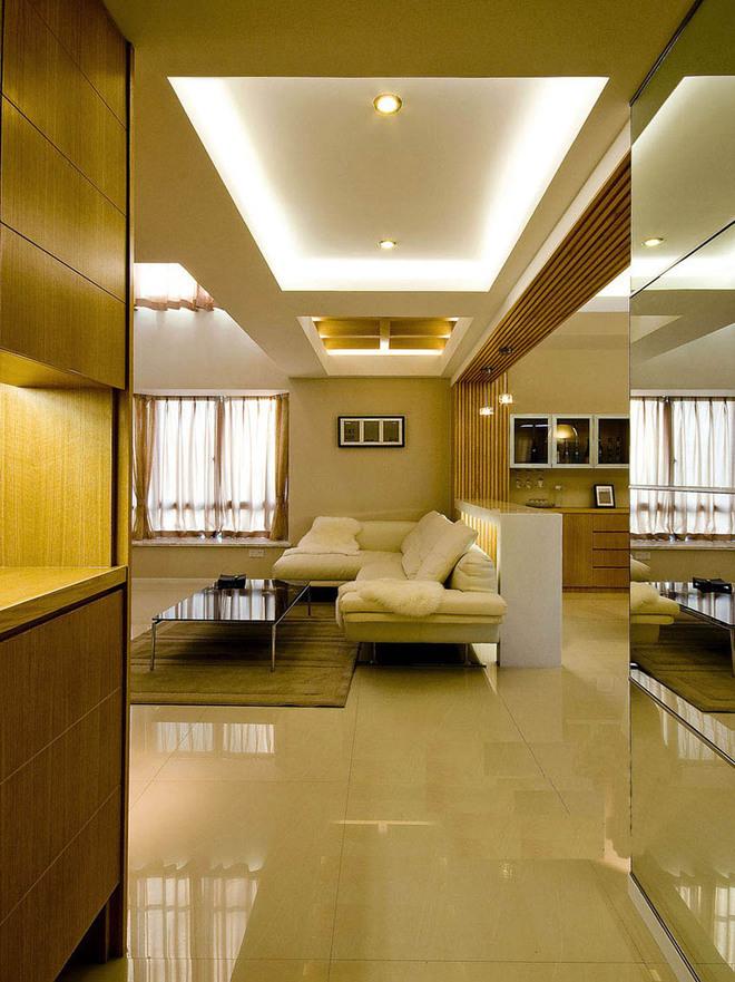 时尚现代风格客厅吊顶装修效果图