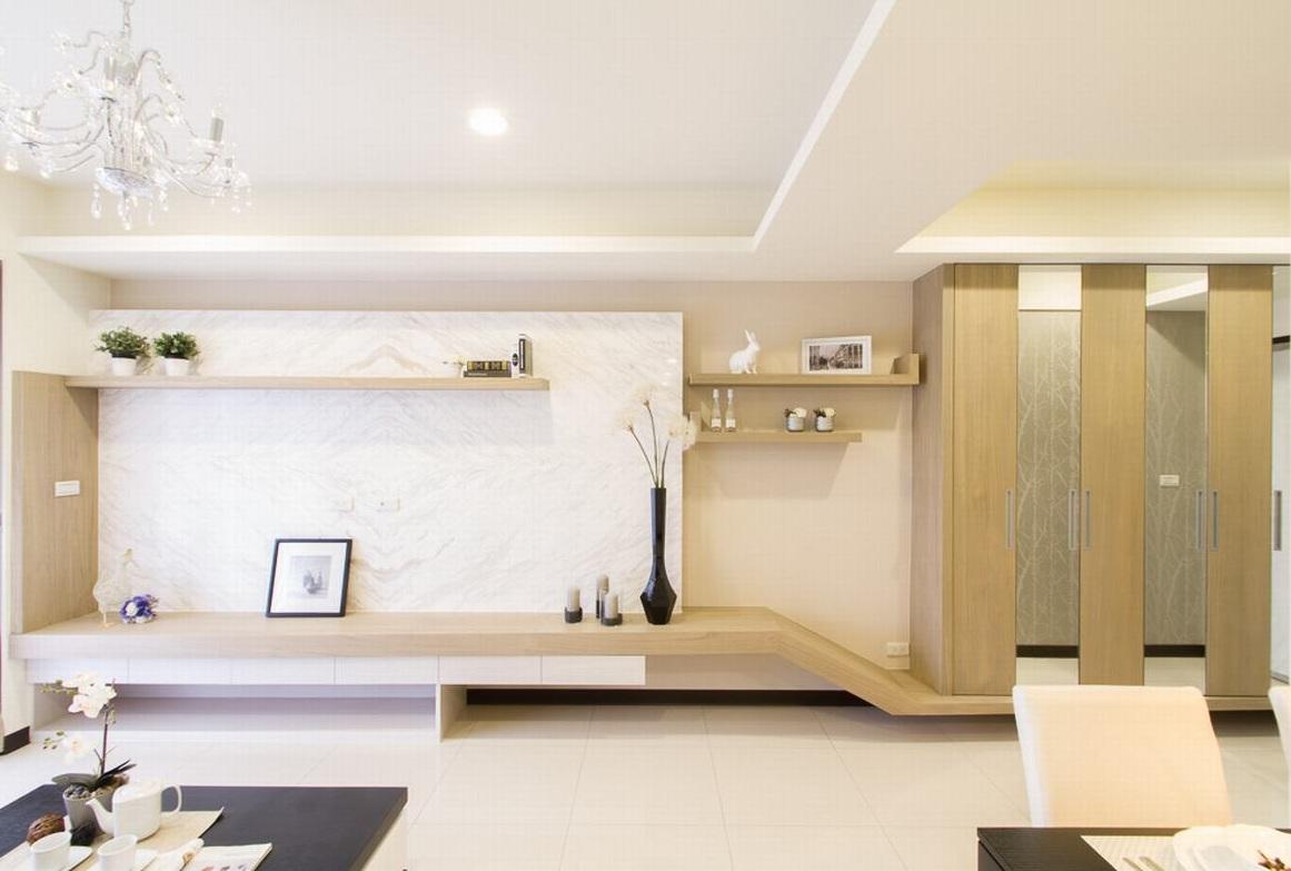 简约现代客厅背景墙装修效果图