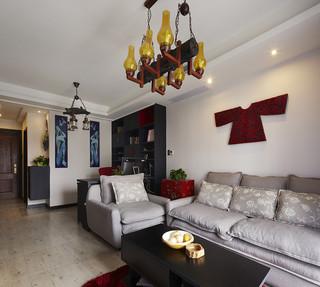 75平宫廷中式小户型公寓设计装饰图