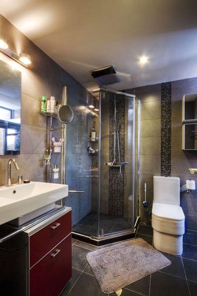 现代简约卫生间淋浴房设计装修效果图