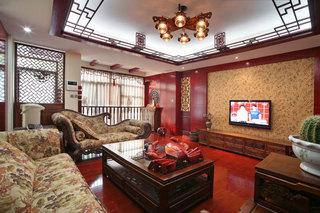 精美奢华红木中式新古典复式楼家居设计