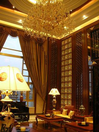 金色奢华中式新古典风格豪宅别墅装潢设计欣赏