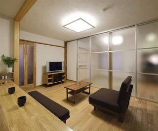 简洁日式装修风格小户型一居室设计装潢图