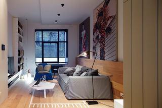 简约艺术风小户型单身公寓设计装修图