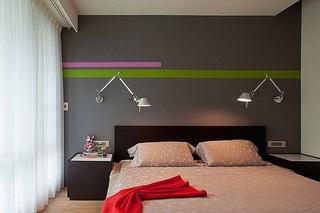 精美含蓄简约风格卧室壁灯装饰效果图