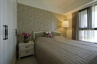 精致优雅美式卧室背景墙设计效果图