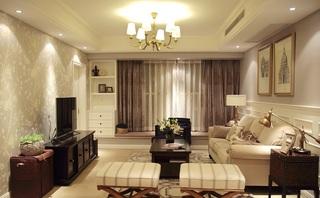 美式乡村风格三室两厅装饰图
