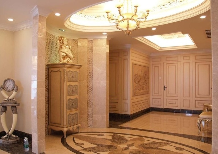 豪华欧式装饰风格玄关设计装潢效果图