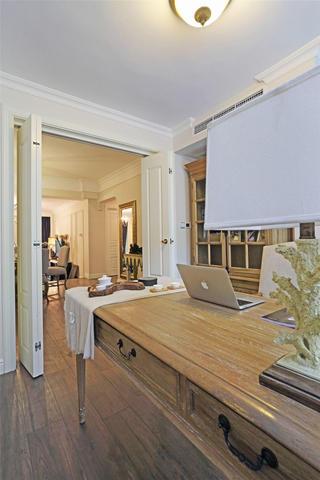 怀旧美式风格书房折叠门设计装饰