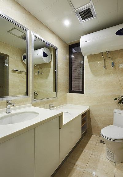 现代时尚家居卫生间洗手台设计图片