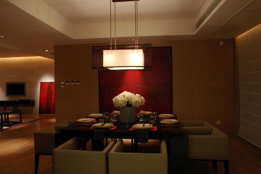 奢华典雅现代新中式餐厅家装效果图大全