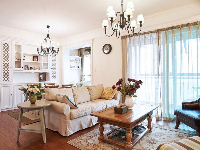 休闲美式乡村田园风格小户型二居室装修图片