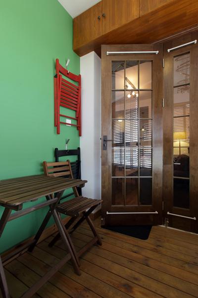 简约现代复古家居折叠门装饰图