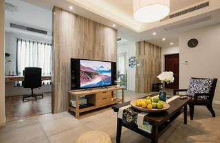 简约现代家装风格二居室内隔断设计图