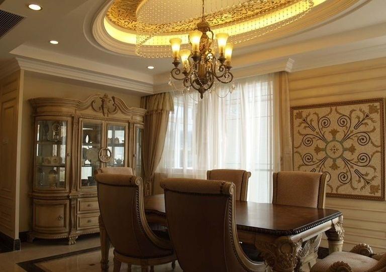 古典豪华欧式风格餐厅装潢效果图