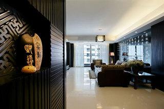 新古典中式风格三居客厅装饰效果图