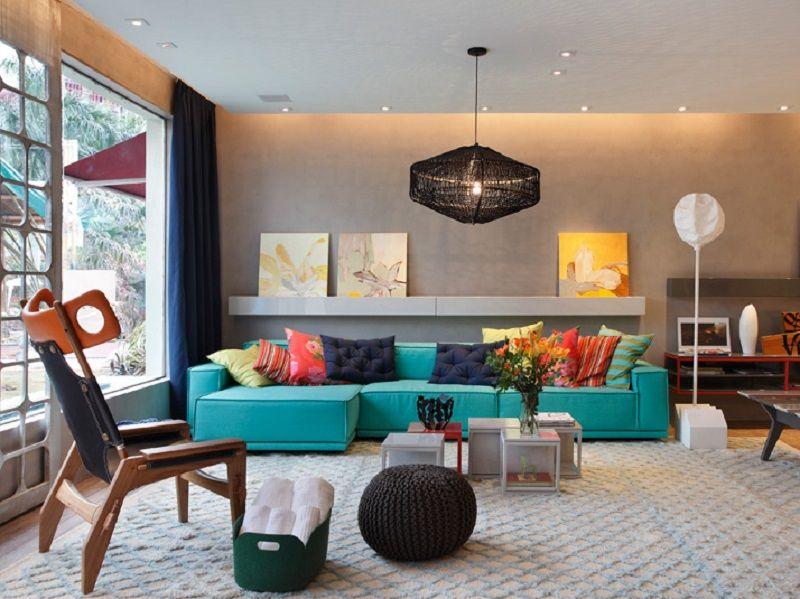 炫彩东南亚现代风格一居室室内装潢图片