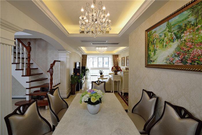 小资情调简欧风格复式家装楼梯装修设计图