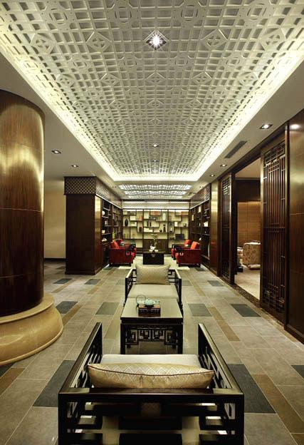 华丽璀璨现代中式混搭家装过道设计