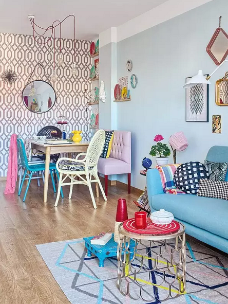 简约清新宜家混搭风格一室一厅装修效果图