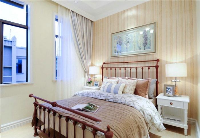 温馨简约欧式设计卧室效果图