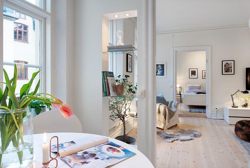 简约设计小户型一室两厅室内装修图片