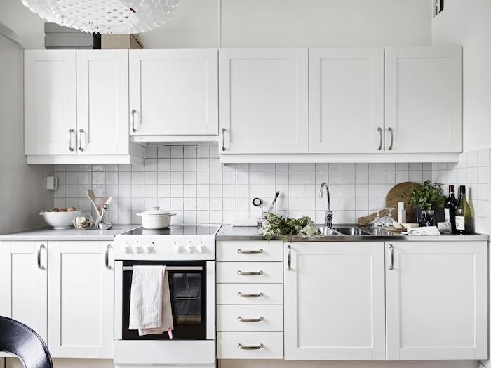 纯净洁白北欧风格厨房装饰效果图