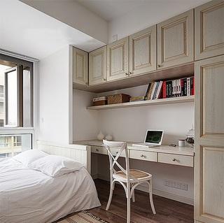 北欧风格小卧室怀旧整体书柜欣赏