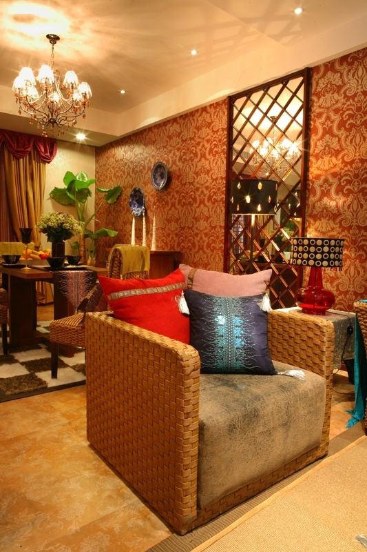 色彩靓丽东南亚风格两居装饰效果欣赏图