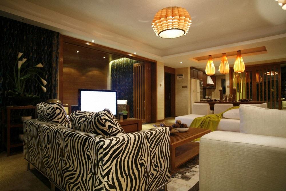 复古东南亚设计装修客厅沙发效果图大全