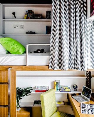 时尚个性北欧工业风混搭一居室公寓装潢设计
