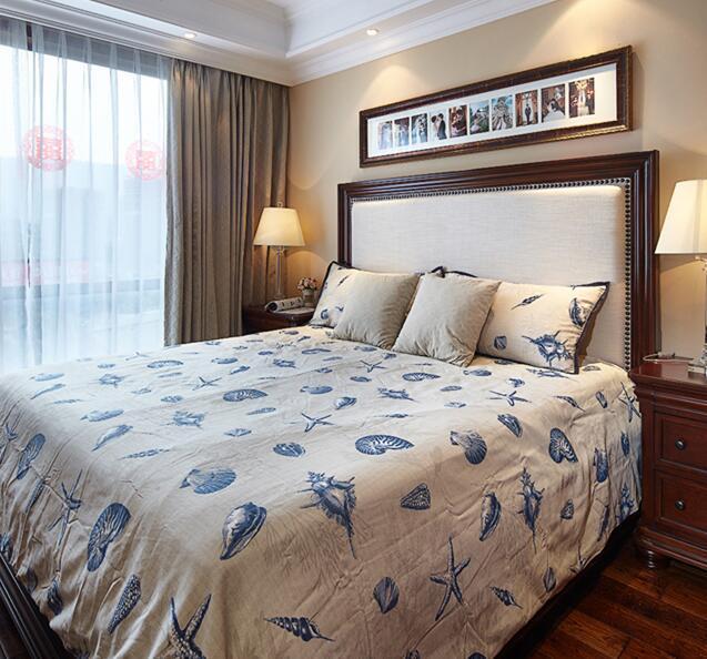 宜家风格美式风格卧室实木床效果图