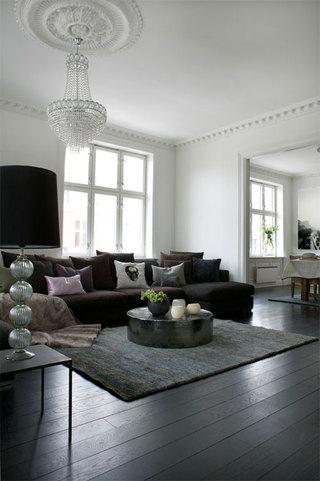 黑白宜家北欧混搭风开放式公寓装修案例