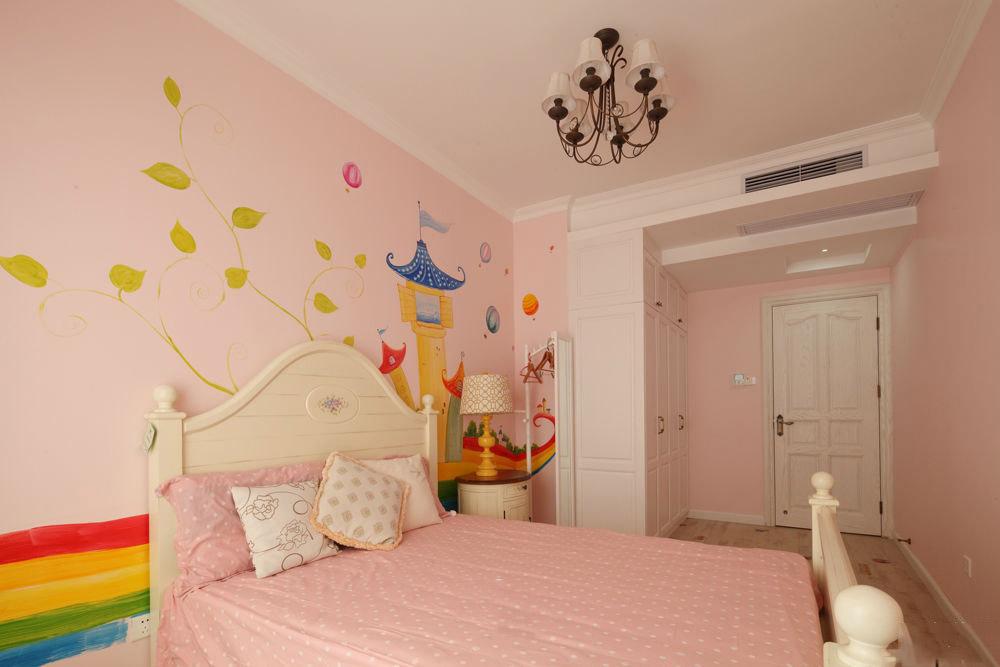 甜美粉色简约美式设计公主房大全