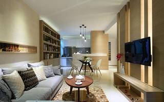 简约现代设计装修风格二居室装潢案例图