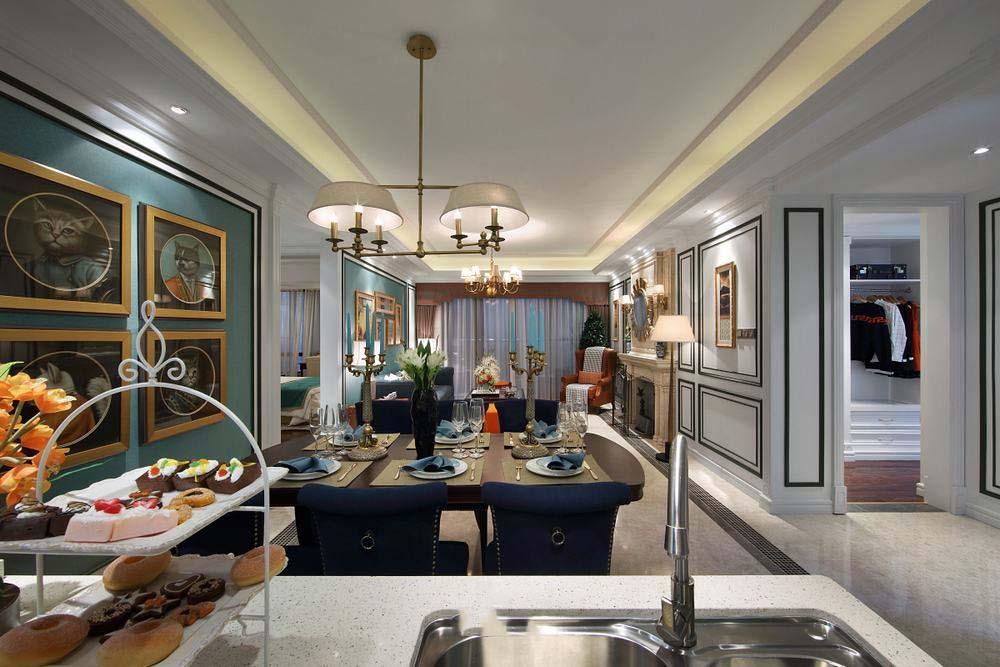 精致美式新古典家装客餐厅装饰大全