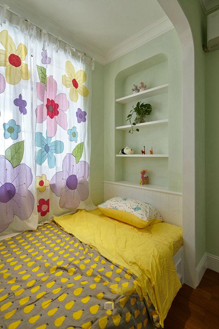 精致美式地中海儿童房床头照片墙设计_齐家网装修效果图片