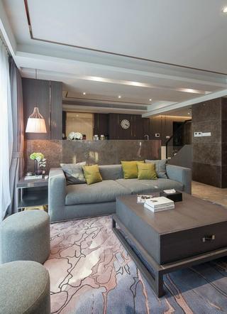 时尚低奢现代复古风格混搭复式楼家装效果图