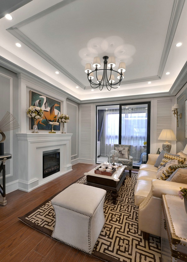 时尚精致美式设计客厅装饰大全
