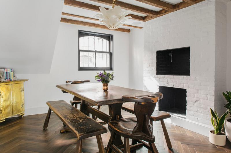 复古北欧风格小户型一居室装修设计图