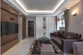 中式简约家装客厅电视背景墙装饰效果图