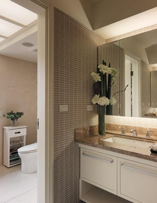 新古典家居卫生间隔断设计图