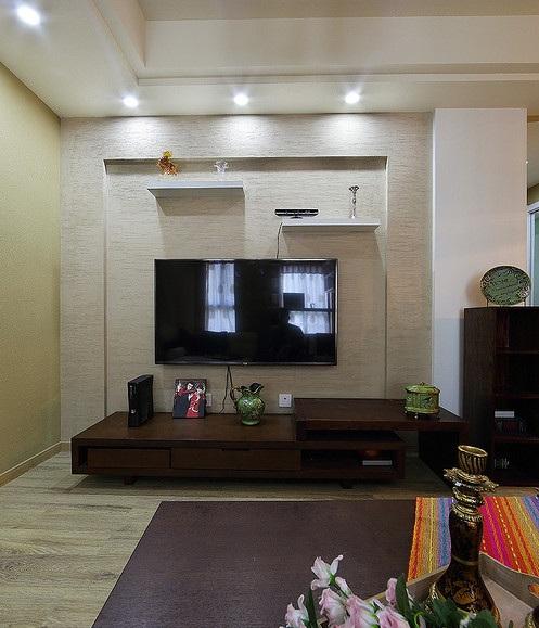 简朴现代客厅电视背景墙装修设计效果图