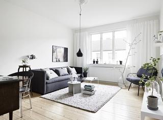简约70平北欧小户型二居室设计装潢案例图