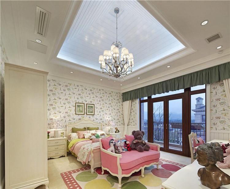 温馨典雅美式卧室吊顶设计装修图片