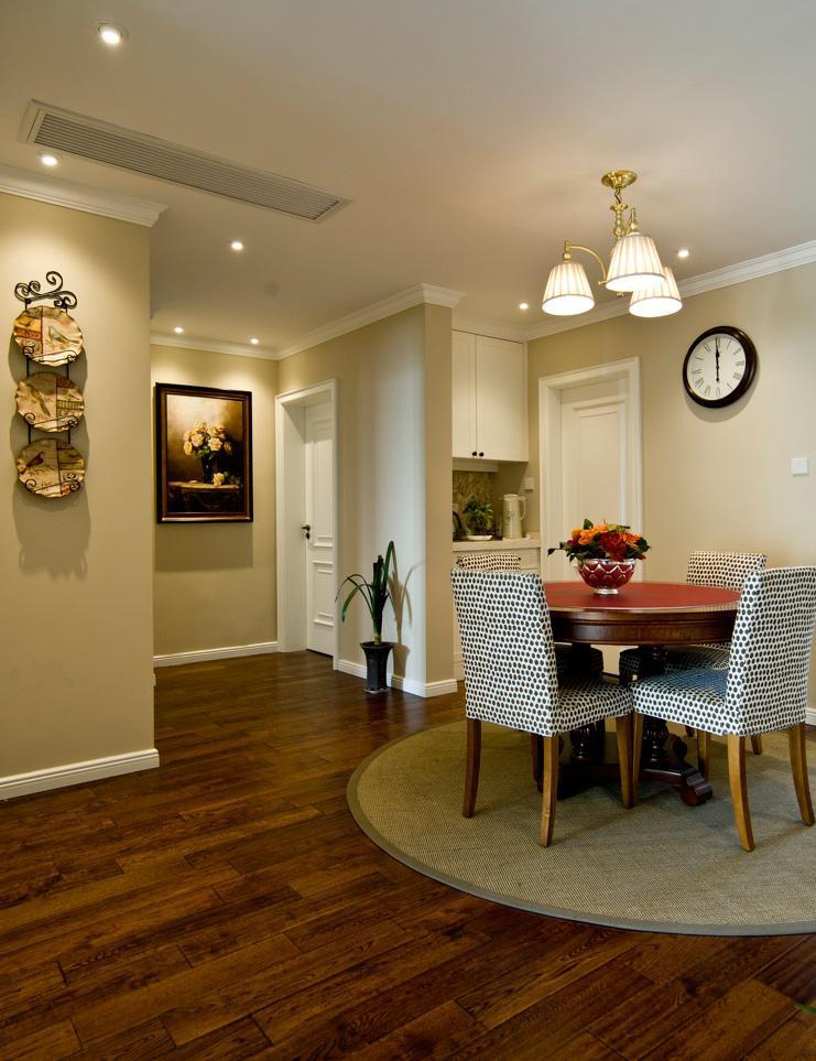 舒适复古美式室内餐厅过道装饰效果图图片