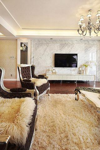 时尚现代精美华丽欧式风格三居家装设计样板房