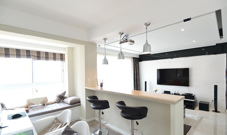 低调雅致现代风格两室两厅装潢效果图