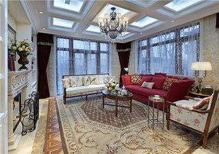 180平精美美式风格小别墅家装设计图